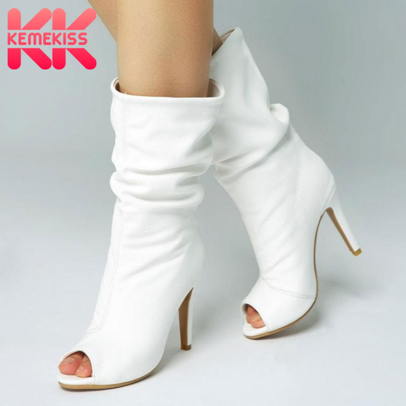 KemeKiss Plus Size 34 47 More Colors Customized Boots Brand New Summer Shoes Woman High Heels