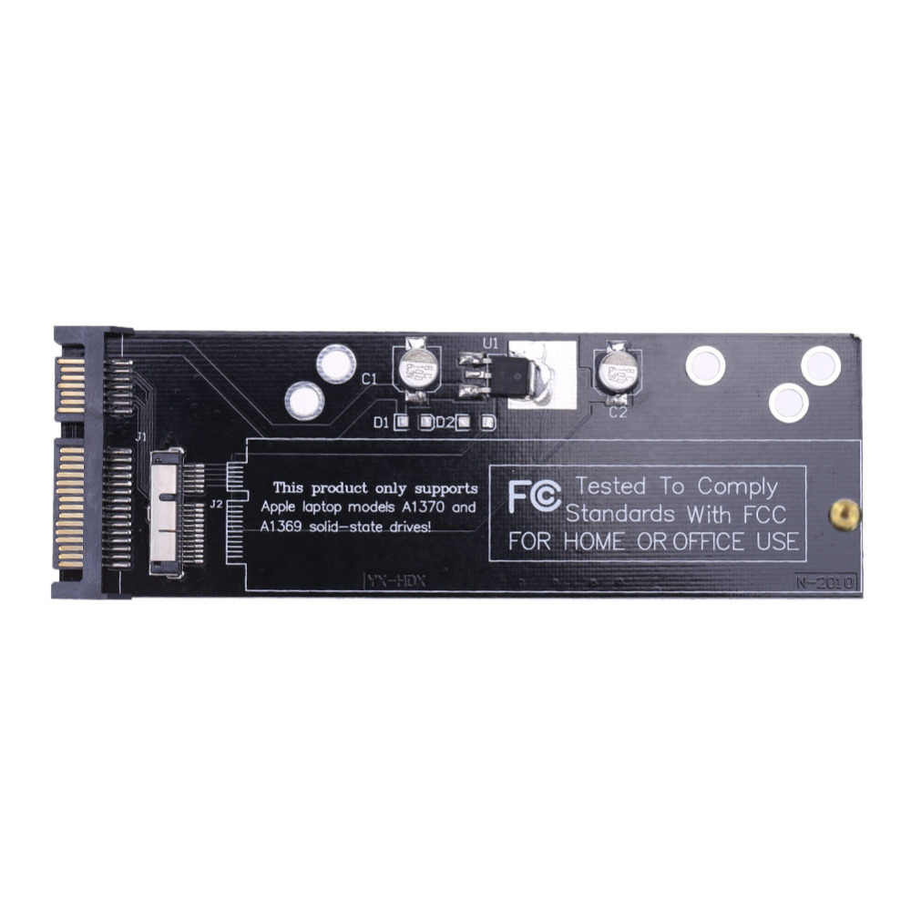 "6 + 12pin SSDเพื่อSATA Converter CardสำหรับApple 2010 2011 สำหรับMacBook Air A1370 A1369 SSD 2.5 ""SATA 22pin"