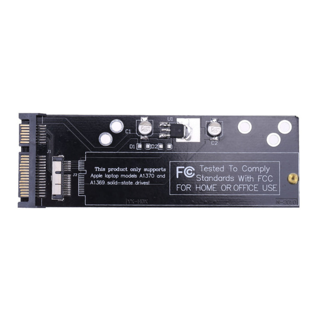 Placa Convertidora de 6 + 12 pines SSD a SATA para Apple 2010 2011, para MacBook Air A1370, A1369, SSD a SATA de 2,5 pulgadas, 22 pines