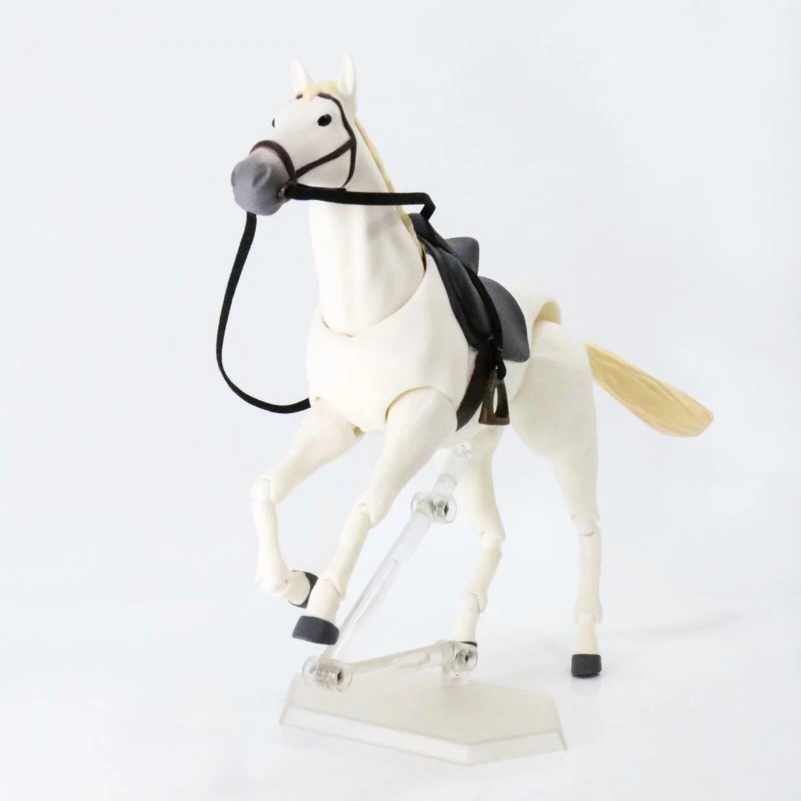 Fgima 246 Caballo Blanco y castaña BJD PVC figura de acción juguetes ...