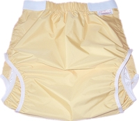Free Shipping FUUBUU2228 YELLOW Waterproof Pants Adult Diaper Incontinence Pants Pocket Diapers