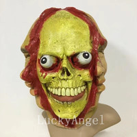 Halloween Adult Masks Horror Three Face Zombie Masks Bloody Scary Extremely Disgusting Monster Mask Costume Party Cosplay Props