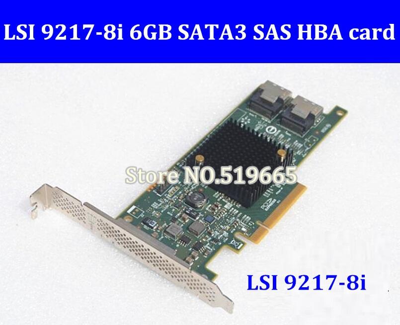 Haute Qualité LSI SAS 9217-8i 9207-8i 8 port HBA JBOD SFF8087 Mini-SAS HD 6 gb PCI-E 3.0X8 SAS Carte Contrôleur RAID
