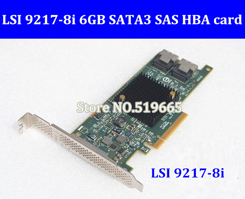все цены на High Quality LSI SAS 9217-8i 9207-8i 8 port HBA JBOD SFF8087 Mini-SAS HD 6Gb PCI-E 3.0 X8 SAS Controller RAID Card
