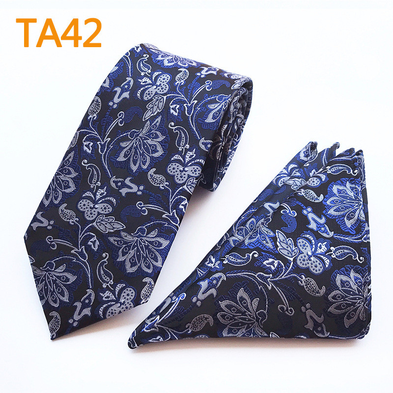 Apparel Accessories Generous Scst Brand Blue Floral Print Necktie Mens Wedding Necktie Silver Silk Ties For Men Tie With Match Handkerchiefs 2pcs Set A096
