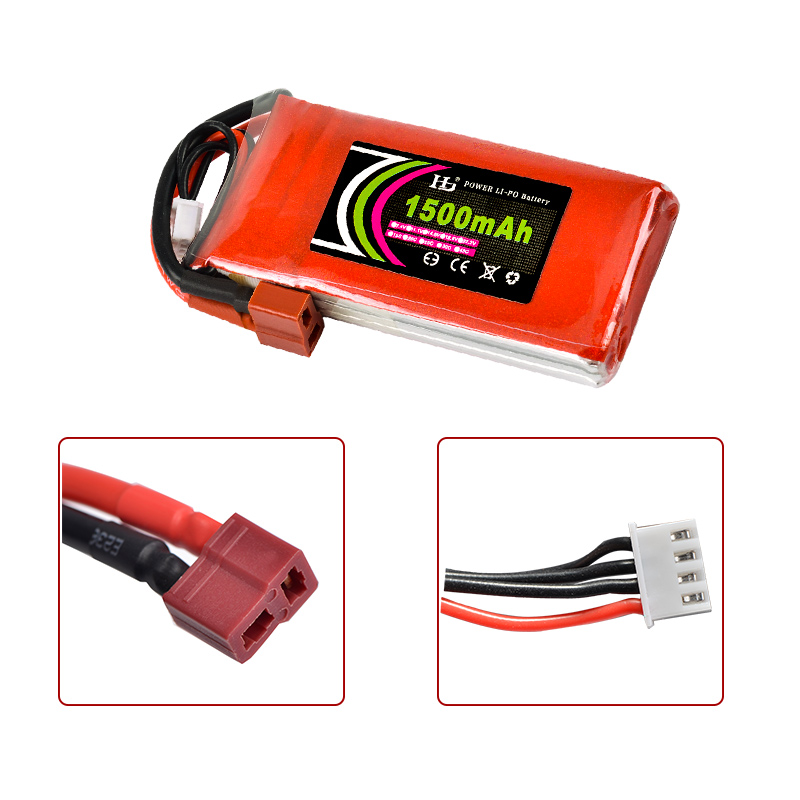HJ Power 7.4V 11.1V 14.8V 22.2V <font><b>1500mAh</b></font> 35C 2S 3S 4S <font><b>6S</b></font> Rechargeable <font><b>Lipo</b></font> Battery XT60 T other Plug For RC Drone Car Boat image