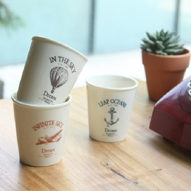office coffee cups. new arrival zaka sea anchor balloon aircraft simulation paper ceramic breakfast water cups office coffee n