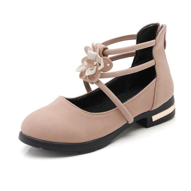 Girl White Shoes Faux Leather 2018 Princess Prinsessen Schoenen Kids