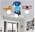 Envío gratis de lámpara de techo niños dormitorio lámpara de iluminación de la habitación E27 dibujos LED lámpara de control remoto controlador incluido