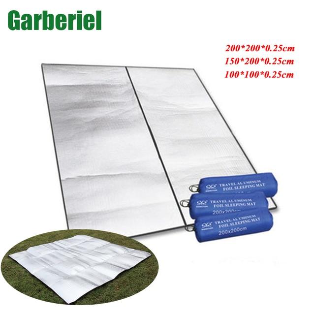 Foldable Sleeping Pad Waterproof Outdoor Mattress Durable Camping Double Camp Mat Aluminum Foil Material