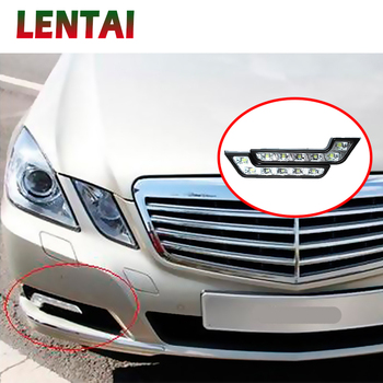 LENTAI 1Set Car LED DRL Lights 12V L Styling Fog Lamp For Mercedes Kia Alfa Romeo Fiat 500 BMW E39 E46 E90 E60 E36 F30 F10 Mini image