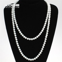 Shiny Fashion Black Pearl Necklace