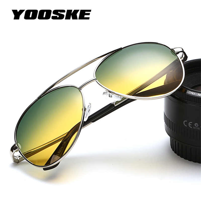 a9036e50de Detail Feedback Questions about YOOSKE Day Night Goggles HD Glasses Men  Safe Driving Polarized Sunglasses Reduce Night Driving Glare Eye Strain Sun  Glasses ...