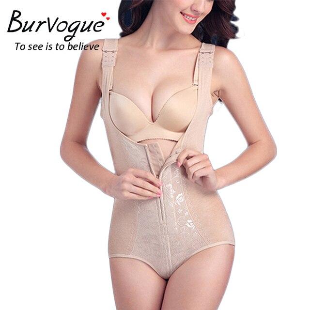 Burvogue mujeres body control caliente shapers underbust body slimming body shaper body fajas de terciopelo sin costura de encaje completo
