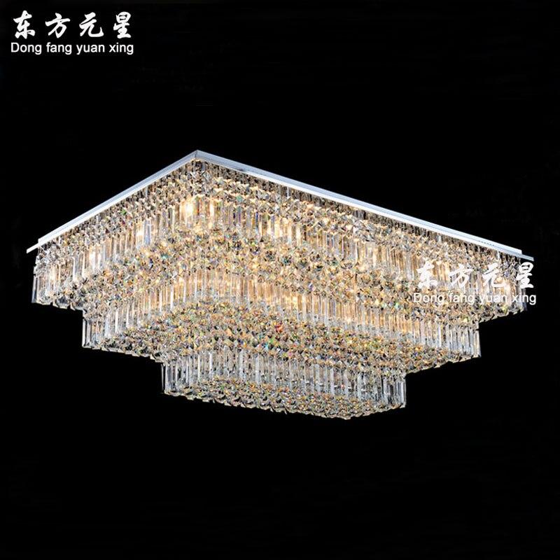 Хрустальная люстра с лампами прямоугольная гостиная спальня ампер и фонари домашние люстры освещение класса люкс украшения
