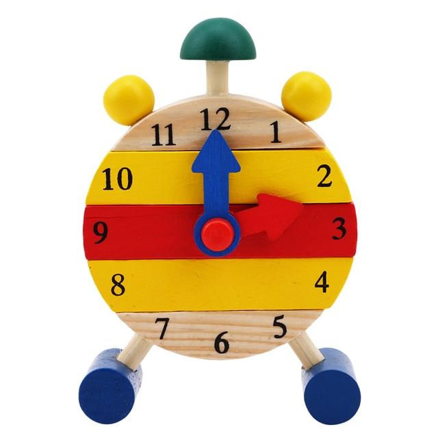 1 Pc מונטסורי עץ פאזלים צעצועים לילדים דיגיטלי זמן למידה חינוך חינוכיים משחק תינוקות ילדים מיני פאזל שעון