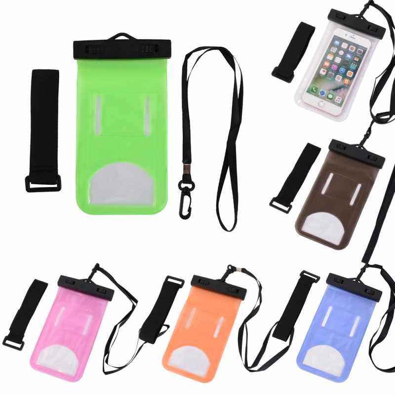 متعددة نمط الذراع التفاف حزام للماء البسيطة حقيبة سباحة للهواتف الذكية تعمل باللمس حقيبة الهاتف الرعاية للماء الهاتف الحاويات