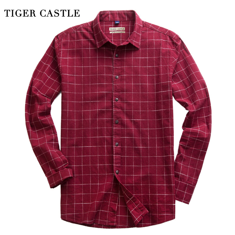 766ce5fae794e Brand Mens 100% Cotton Plaid Shirt Long Sleeve Regular Fit Blouse Men  Spring Autumn High Quality Dress Shirts Camisa Masculina