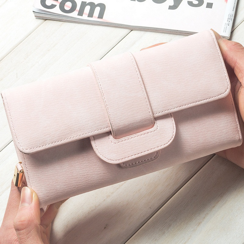 2017 Big Capacity Fashion Casual Women Wallets Long Soft PU Leather Wallet Female Big Clutch Coin Purse Phone handbag CK896B