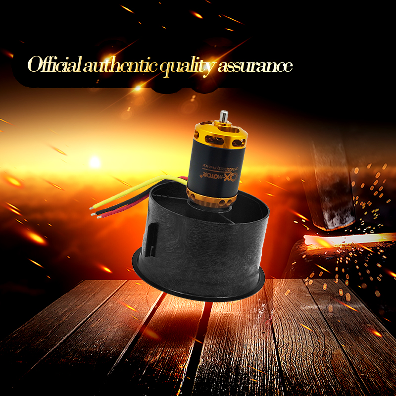 QX-MOTOR DIY Drone 64mm EDF Set 2822 3800KV Brushless Motor with 12 Blades Ducted Fan for RC Airplane Model Parts