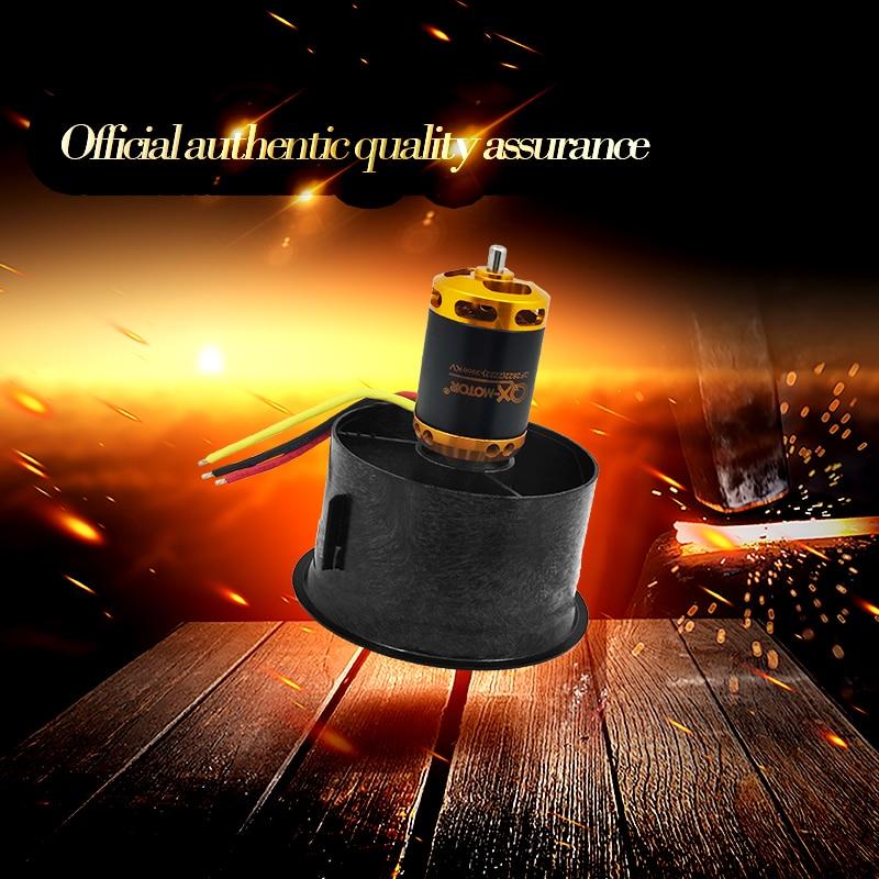 qx motor diy zangao 64mm edf definir 2822 3800kv brushless motor com 12 laminas ventilador canalizado