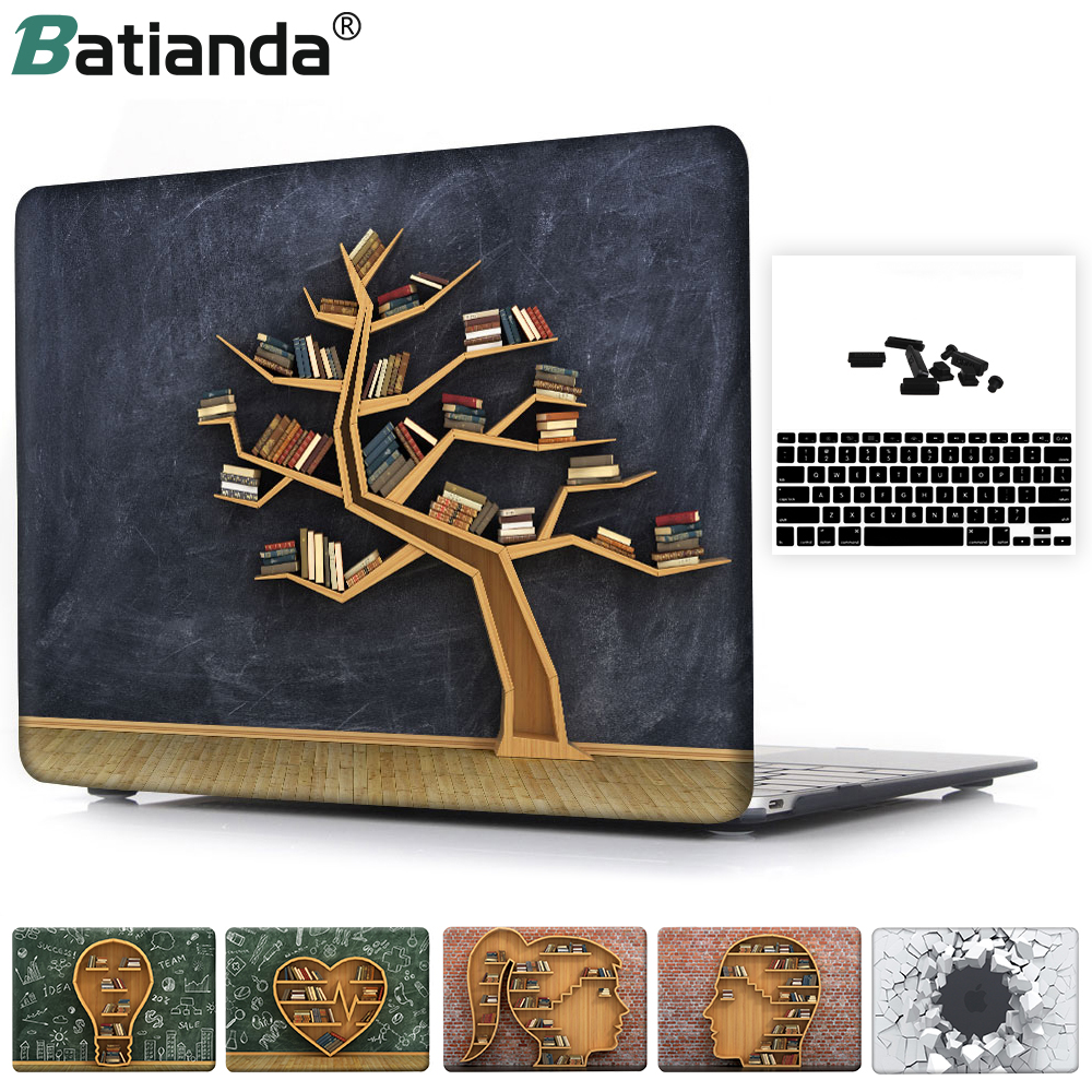 a93a05caea7a US $13.64 9% OFF|Crystal Printed Books Tree Bulb Brick Case Cover for  MacBook Pro 13 15 2017 2018 New Air 11 12 13 with Retina Touch ID A1932-in  ...