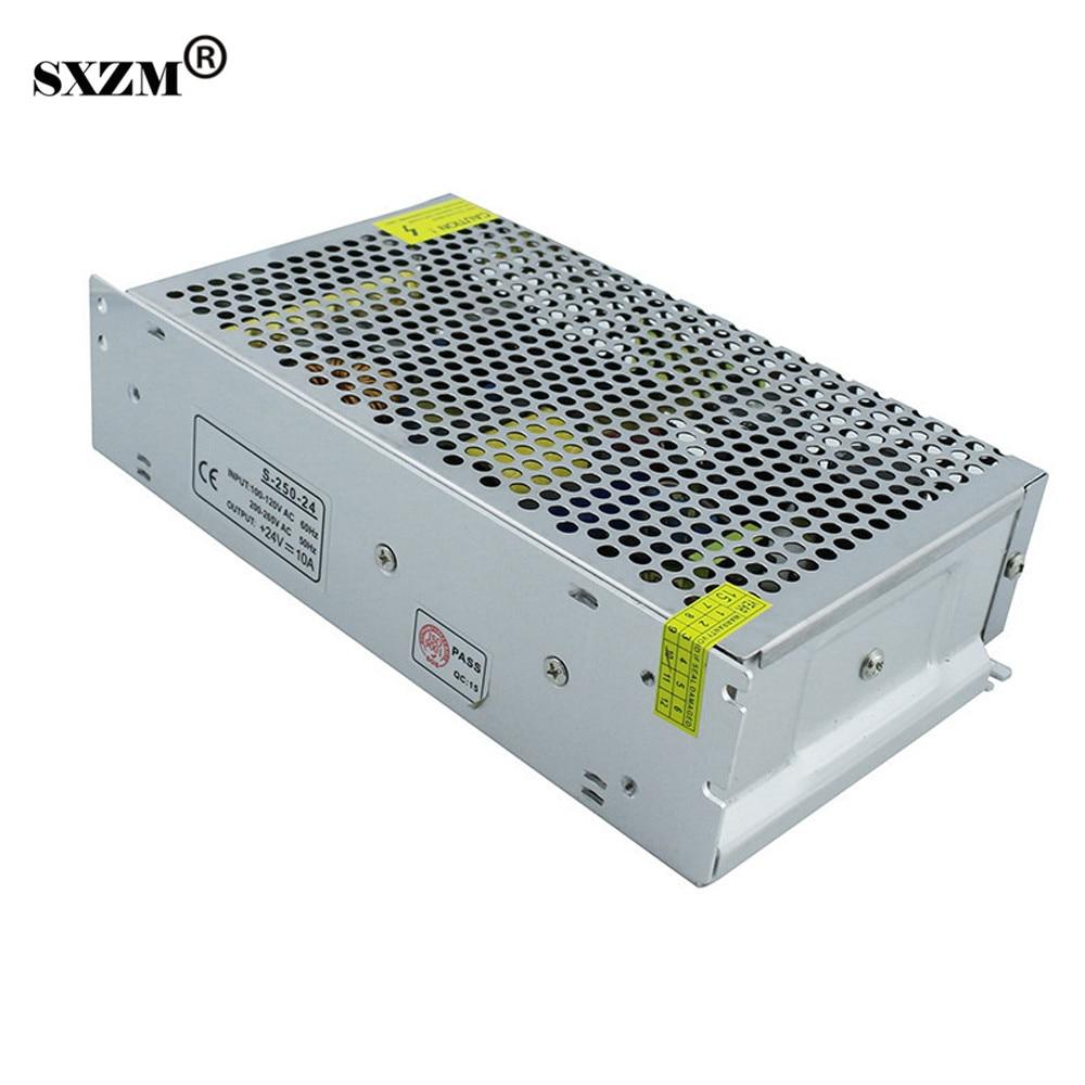 SXZM 240W LED transformer power supply AC110V/220V to DC24V 10A for led strip light RoHS CESXZM 240W LED transformer power supply AC110V/220V to DC24V 10A for led strip light RoHS CE