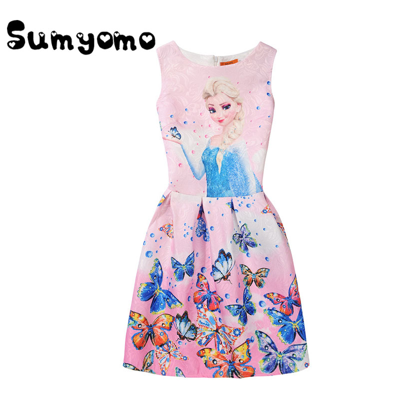 Summer Dresses Girl Clothes Kids Teenagers Girls Party clothing Elsa PRINCESS Children Sundress Clothes 5 6 12 Years Bunchems 6m 6 years baby sundress baby girl dress summer denim dresses girls overalls kids jeans children clothes kids clothing 2345789