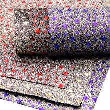 Дэвид аксессуары 20*34 см золотой фольги блеск звезды виниловые искусственная синтетическая кожа, DIY одежды Knotbow сумки, украшения, 1Yc3836