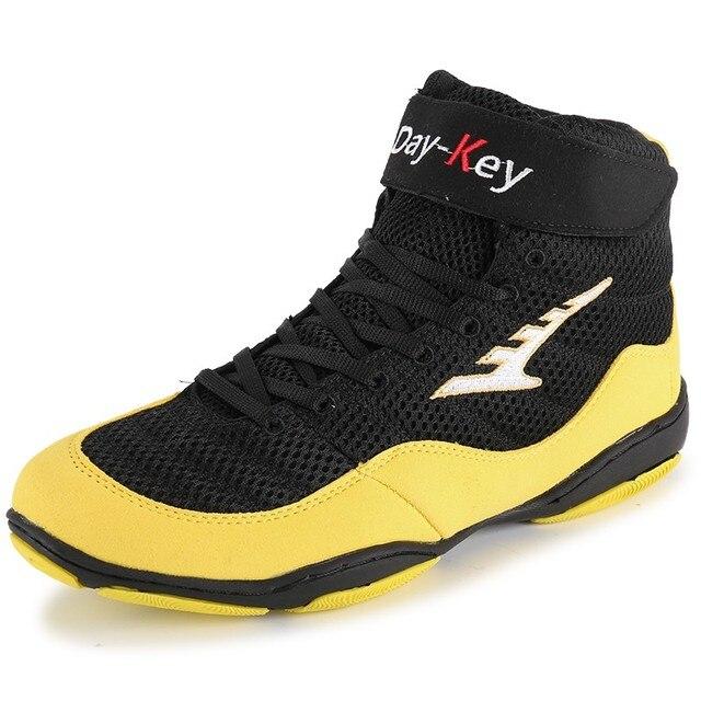 7c8201ecc4e7 Men women light breathable wrestling shoes boxing shoes fighting boxer boots  comprehensive training shoes sneaker size 36-46