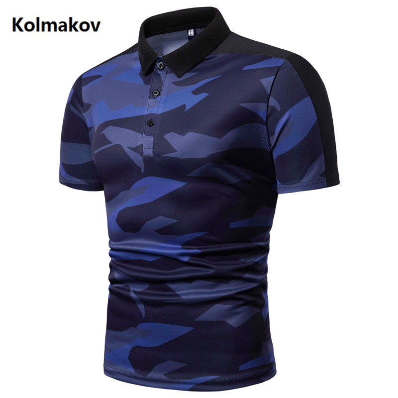 2019 high quality Brand   Polos   camouflage Mens   POLO   Shirts Cotton Slim Fit Short Sleeve Men's Casual Male   Polo   Shirt size M-3XL