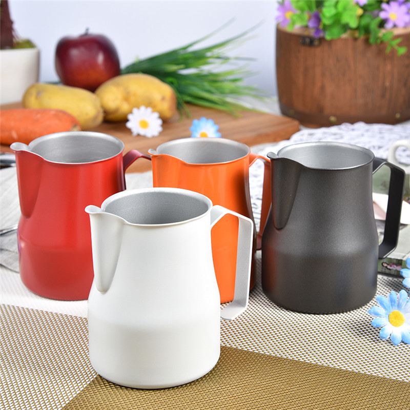 High Quality Stainless Steel Milk Frothing Pitcher Jug Espresso For Coffee Moka Cappuccino Latte Drink Barista Craft