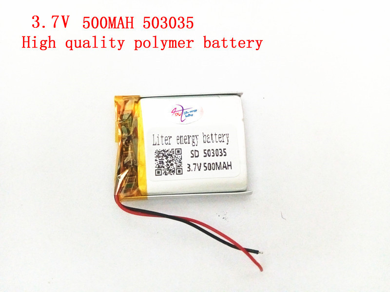 1PCS Supply polymer lithium battery 3.7V 503035 500MAH Liter energy battery lithium polymer battery plus board 3 7v lithium polymer battery 584070 2400mah electronic products built