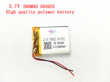 1PCS Supply polymer lithium battery 3.7V 503035 500MAH Liter energy battery lithium polymer battery plus board