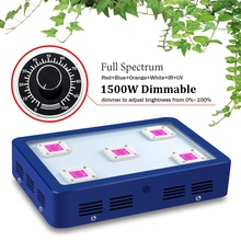 Regulable BESTVA X5 1500 W LED Crece la luz de Espectro Completo llevado crece luces Para El Cultivo de Plantas Y la Floración LLEVADO crece luces
