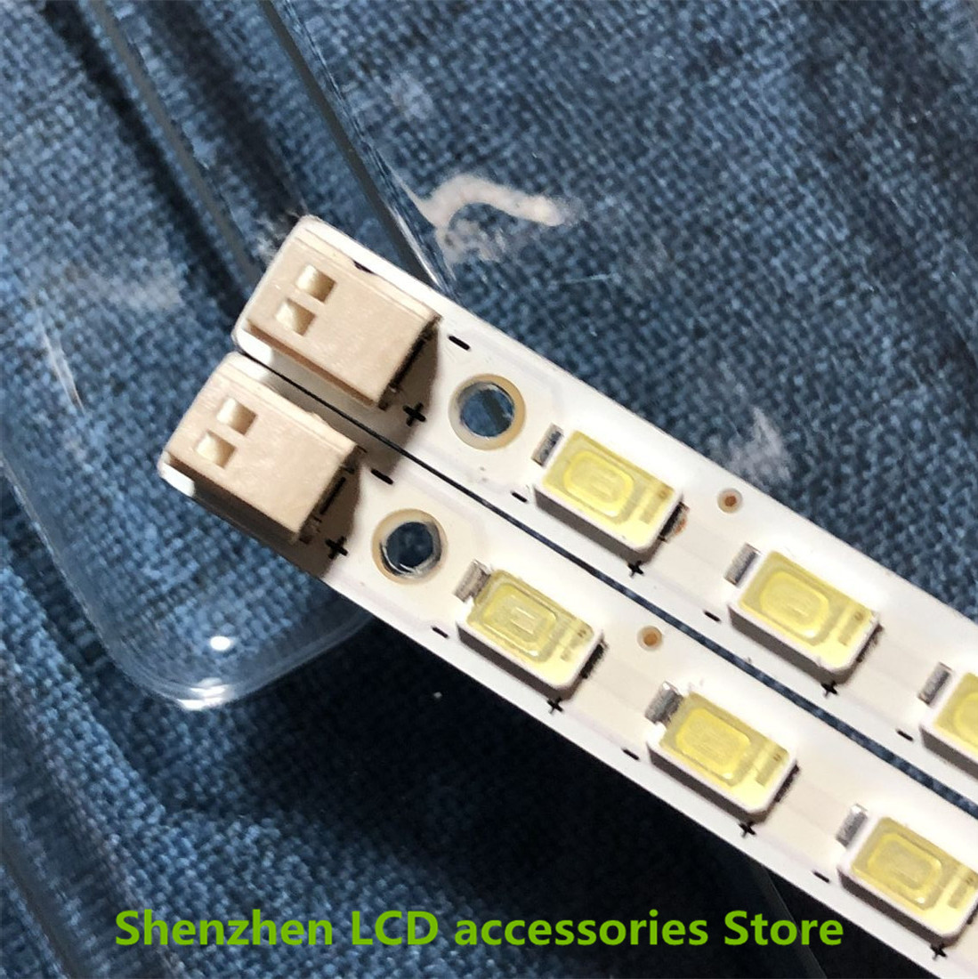2Pieces/lot   For Toshiba 40BF1C LCD backlit TV lamp strip LJ64-02267A/02268A with screen LTA400HF16    56LED   453MM