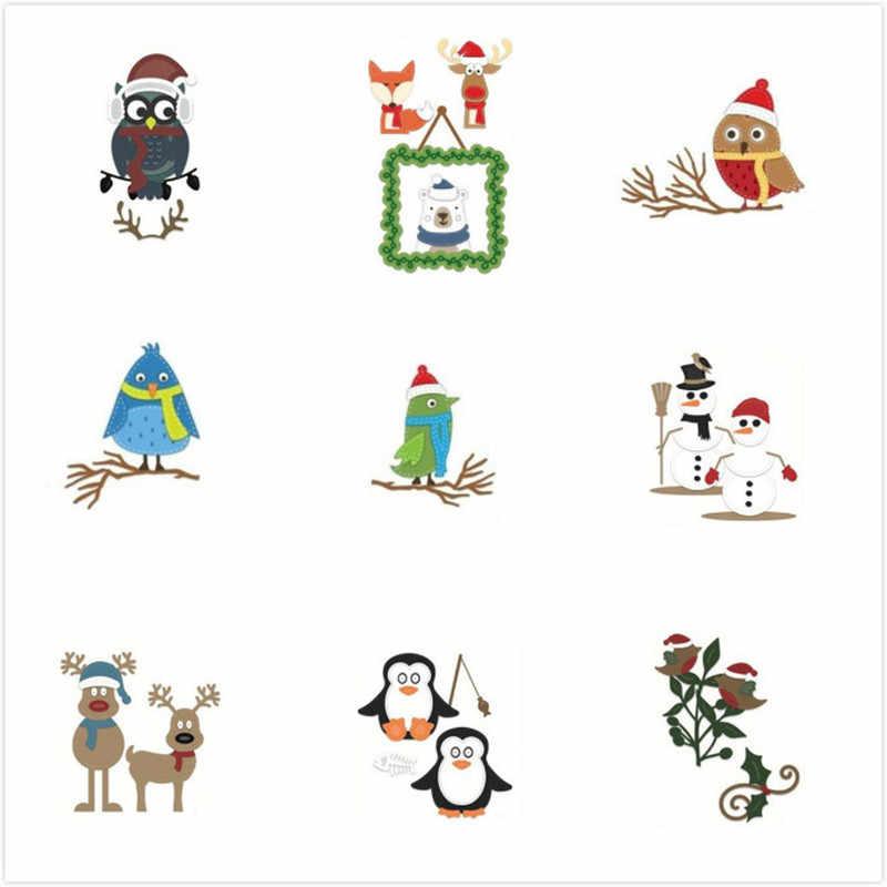 18 стилей кружева Хэллоуин Рождественские заготовки металла резки штампы Новый 2018 трафарет для скрапбукинга металла высечки фон для подарка
