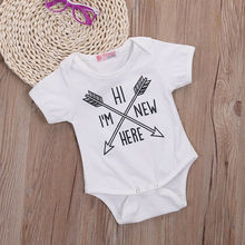 One Piece Newborn Kid Baby Boy Girl Cotton Jumpsuit Bodysuit Clothes Outfit Arrow Pattern