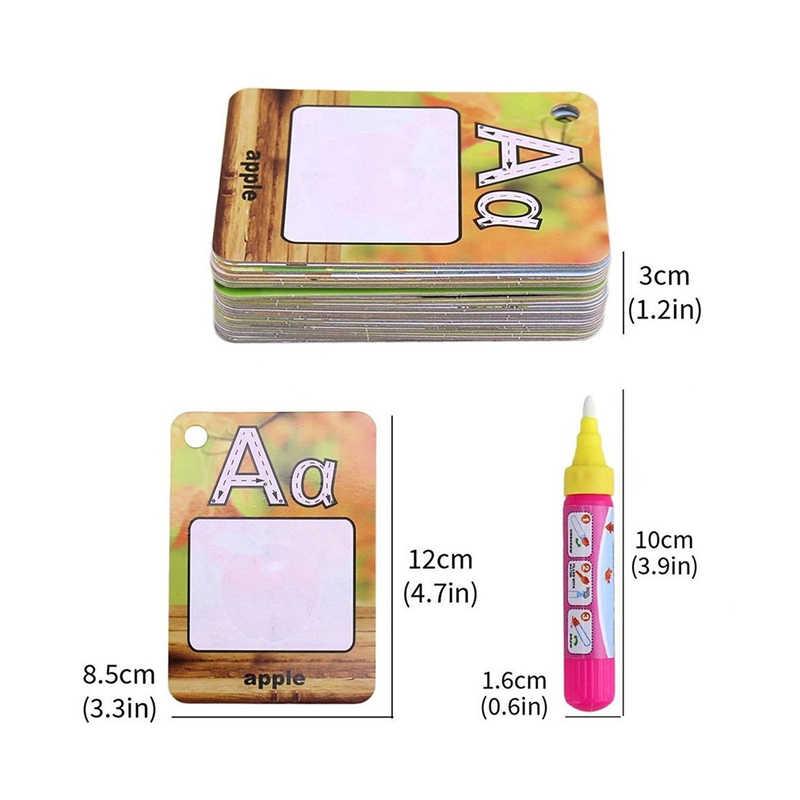 Карты акварель граффити доска для рисования дети 26 букв 3D раннее образование познавательная головоломка окраска для книжка с доской игрушка