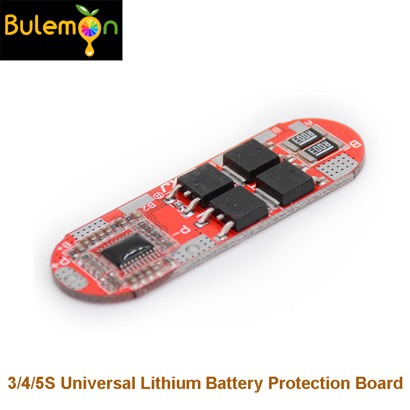 3pcs/lot BMS 25A 3S 12.6V <font><b>4S</b></font> 16.8V 5S 21V <font><b>18650</b></font> Li-ion Lithium Battery Protection Circuit Charging Board Module image