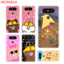 Couples Brown Cony Gift Phone Case For LG V40 G6 G7 Q6 Q8 Q7 G5 G4 V30 V20 V10 K8 K10 2018 2017 Patterned Customized Cases Coque