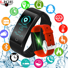 Купить с кэшбэком New Sport Waterproof Smart bracelet Smart Watch Fitnes Heart Rate Blood Oxygen Monitor Pedometer Smart wristband For Android iSO