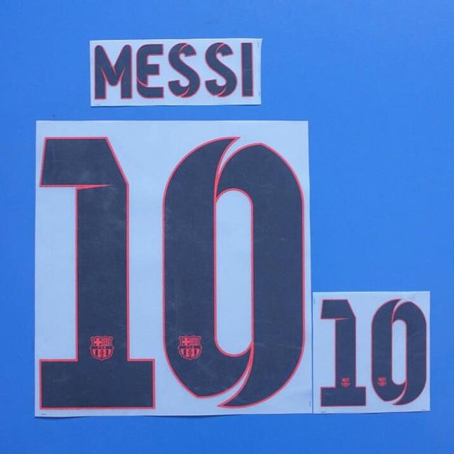7c465b7492e 2012-2013 #10 Messi Nameset Custom Name Numbering Customize DIY Printing  Flocking Soccer Patch Badge