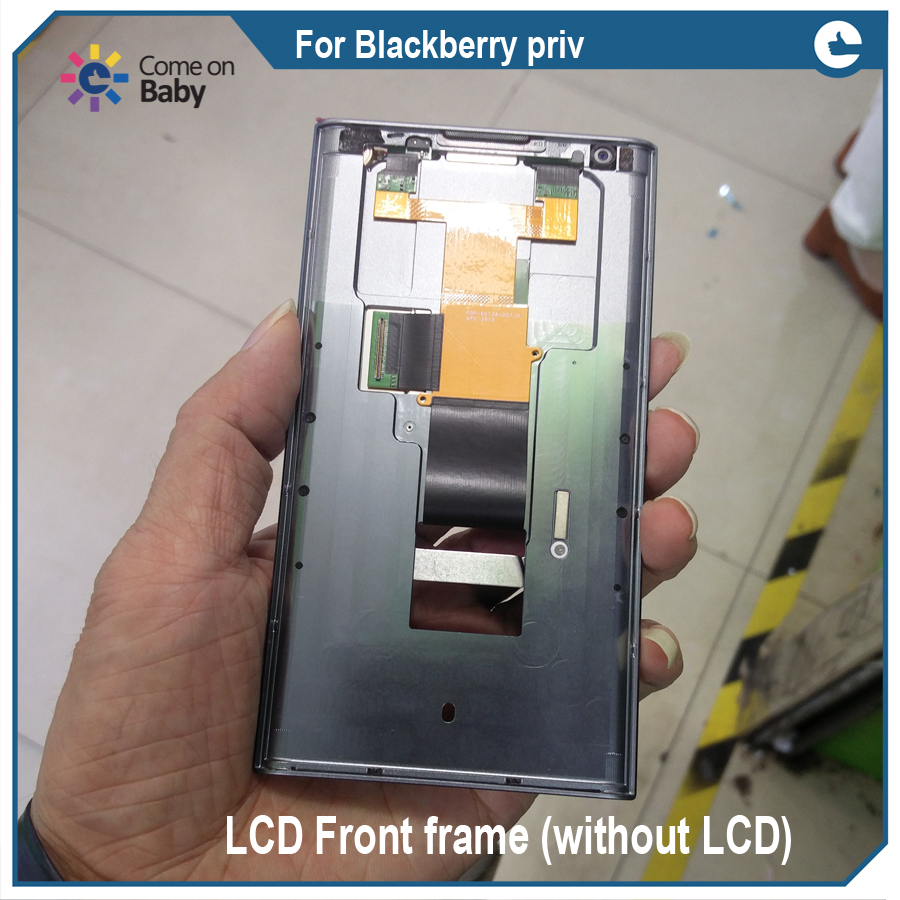 For BlackBerry Priv LCD Front Bezel Frame Middle Housing Plate middle frame + back cover + power Repair Parts Replacement(China)