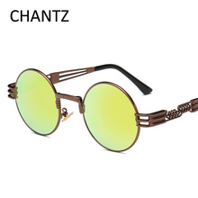 Steampunk Sunglasses Women Polarized 2018 Round Metal Eyeglasses Female Coating Shades Brand Sun glasses Gafas De Sol Mujer 2680