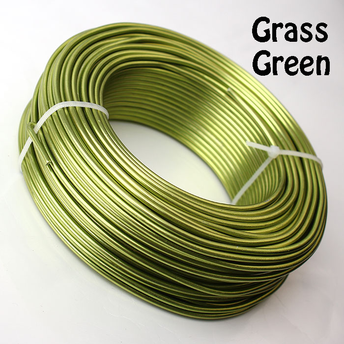 0,5 кг анодированная художественная алюминиевая проволока 2,5 мм 10 Калибр 39 м 43yd цветные украшения Мягкая металлическая проволока постоянные цвета - Цвет: Grass Green