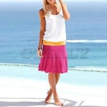 Cuerly Causal Summer Dresses 2019 Casual Sheath Patchwork Sleeveless Simple O-Neck Mini Dress Fashion Women Vestidos