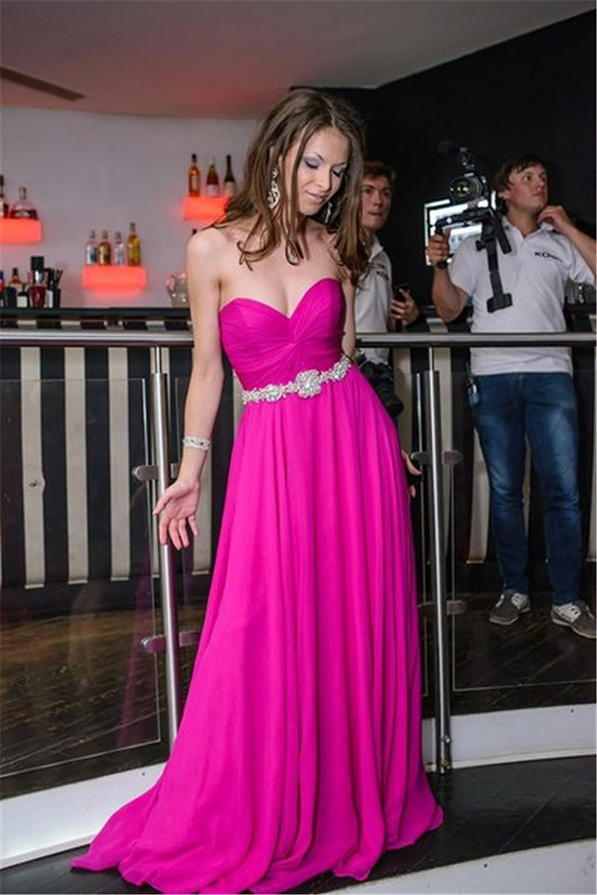 purple celebrity dress 2017 sexy chiffon pleat elegant