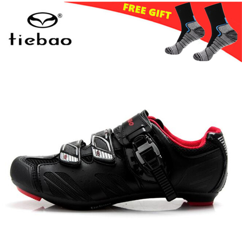 TIEBAO Cycling Shoes For Women And Men Road Cycling Shoes Self-locking Road Bike Outdoor Sport Bicycle Shoes Zapatilla Ciclismo tiebao cycling shoes for women