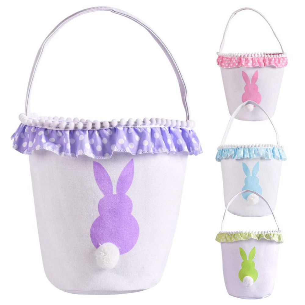 Latest housekeeping storage supplies Rabbit Basket Bag Fluffy Tail Canvas Cotton Rabbit Personality Handbag A1|Drawer Organizers| |  - title=